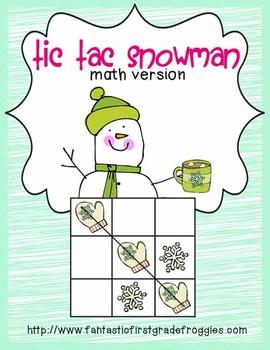 Tic Tac Snowman math version