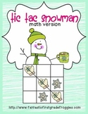 Tic Tac Snowman math version