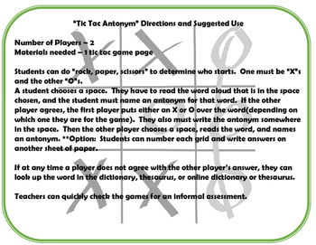 Tic Tac Synonyms and Antonyms