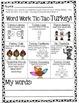 Tic-Tac-TURKEY! Word Work Choice Boards (Thanksgiving theme)