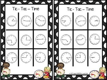 Tic-Tac-Time:  NO PREP Time to the Quarter Hour Game
