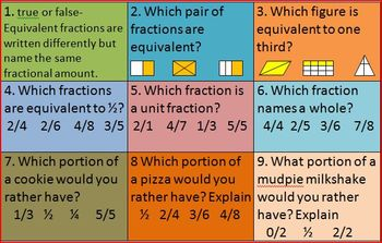 Tic Tac Toe 10 Games Geometry and Fractions