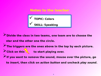Tic-Tac-Toe... Speaking game about colors