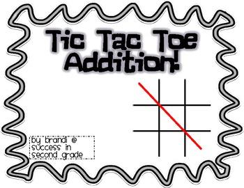 Tic Tac Toe: 2 Digit Addition