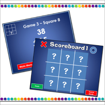 Tic-Tac-Toe 2 Digit Addition Powerpoint Game