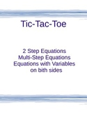 Tic-Tac-Toe (2 Step, Multi-Step and Variable on both sides)