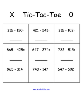 Tic tac toe math symbol worksheet tic best free for Tic tac toe template for teachers