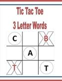Tic Tac Toe 3 Letter Words