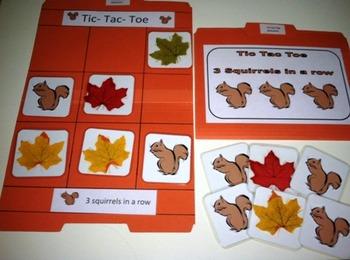 Tic-Tac-Toe 3 squirrels in a row
