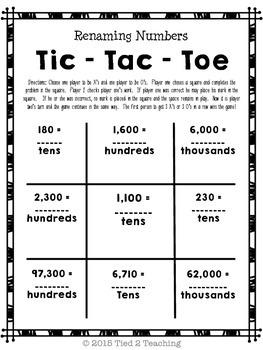 Numbers Base 10 Math Game : 4.NBT game