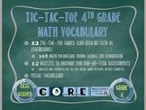 Tic-Tac-Toe 4th Grade Math Vocabulary-CCSS Aligned