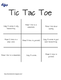 Tic Tac Toe - A Reading Game
