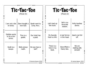 Tic-Tac-Toe: A sentence-level articulation activity for /l, r/