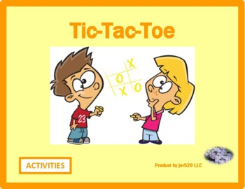 Activities pictures Tic Tac Toe