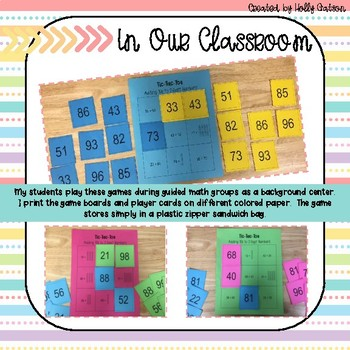 Tic Tac Toe Adding 10s to 2-Digit Numbers