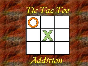 Interactive Flipchart Tic Tac Toe Addition Plus 6 through