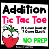 Printable & Digital Tic Tac Toe Math Games for Addition Fact Fluency Practice
