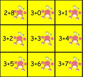 Tic-Tac-Toe Addition up to 10 FREEBIE Alien Invasion