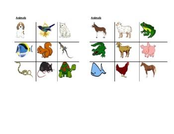 Animals pictures Tic Tac Toe