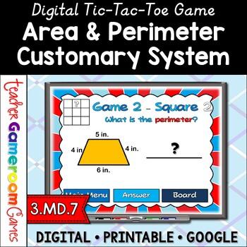 Tic Tac Toe - Area and Perimeter