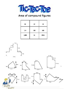 Tic-Tac-Toe Area of Compound/Composite Shapes