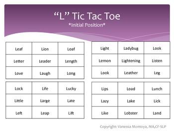 """Tic Tac Toe Artic- """"L"""" Edition"""
