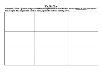 Tic Tac Toe Blank Activity Board - EDITABLE