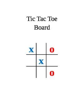 Tic Tac Toe Board