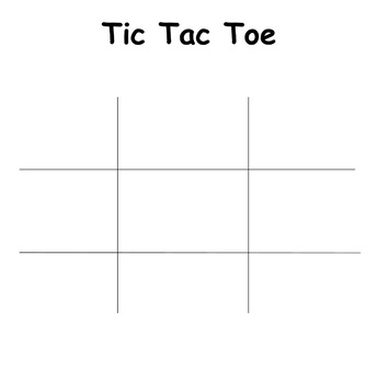 photo relating to Free Printable Tic Tac Toe Board named Blank Tic Tac Toe Forums Worksheets Schooling Components TpT