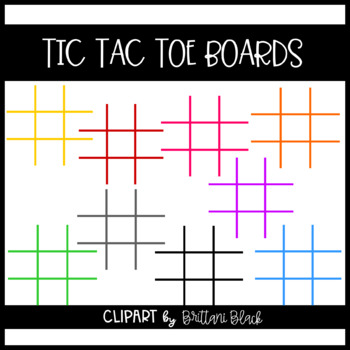 Tic Tac Toe Boards Clipart