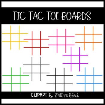 Tic Tac Toe Boards Clipart