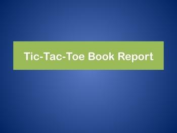 Tic Tac Toe Book Report