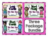 Tic Tac Toe Bundle Package {Long Vowels, Short Vowels, Word Families}