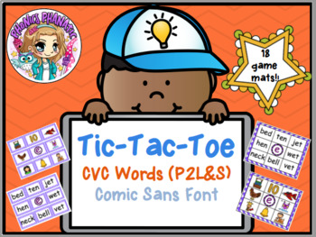 Tic Tac Toe or BINGO CVC Words