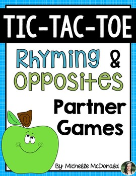 Tic-Tac-Toe Centers {Partner Fun with Rhyming & Opposites}