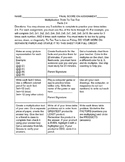 Tic Tac Toe Choice Board Multiplication Facts 2-4 practice