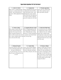 Tic-Tac-Toe Choice Board: Open-Ended/Thick Questions