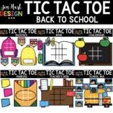 Tic Tac Toe Clipart -  Back to School Clip Art  - Jen Hart Design
