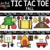 Tic Tac Toe Clipart -  Fall Clip Art  - Jen Hart Design