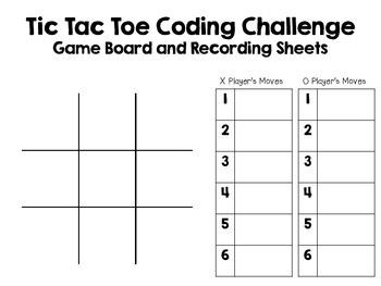 Tic Tac Toe ~ Coding Unplugged Challenge ~ STEM