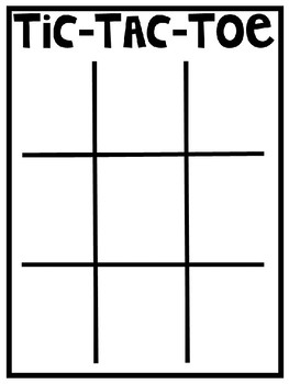 Tic-Tac-Toe Comprehension and/or Practice Game
