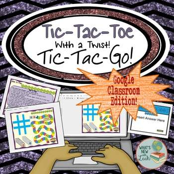 Tic-Tac-Toe Content Review Game for Google Classroom and One Drive