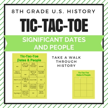 Tic-Tac-Toe Dates and People