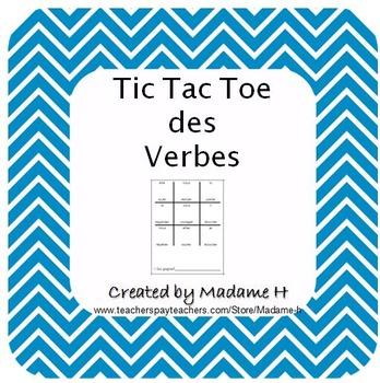 Tic Tac Toe Des Verbes