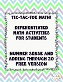 Tic-Tac-Toe Differentiated Math Boards: Number Sense