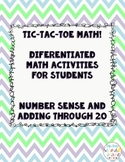 Tic-Tac-Toe Differentiated Math Boards: Number Sense and O