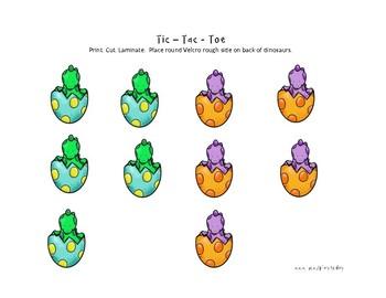Tic-Tac-Toe: Dinosaurs