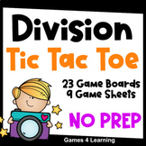 Division Activity: 32 Division Tic Tac Toe Games for Division Fluency