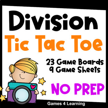 Division Facts Tic Tac Toe Division Games