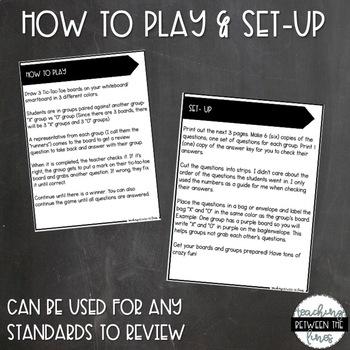 Tic-Tac-Toe ELA Review Game